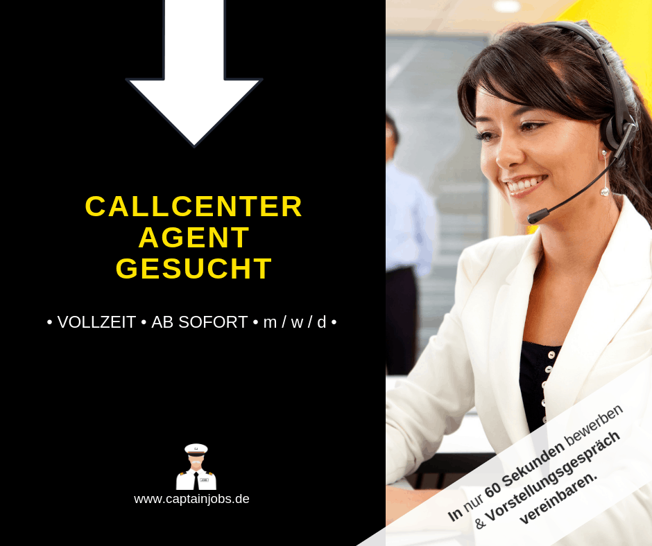Kopie von Captain Jobs Thumbnail 13 - Callcenter Agent (m/w/d) in Amberg